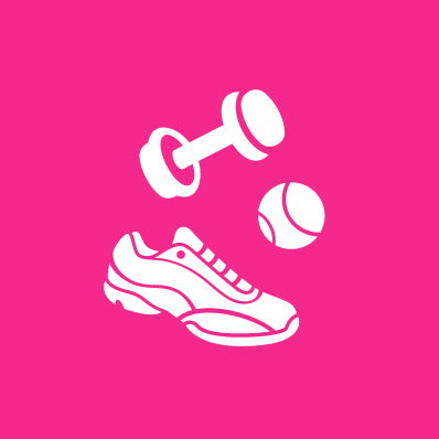 Move well, exercise and fitness. Image of exercise equipment.